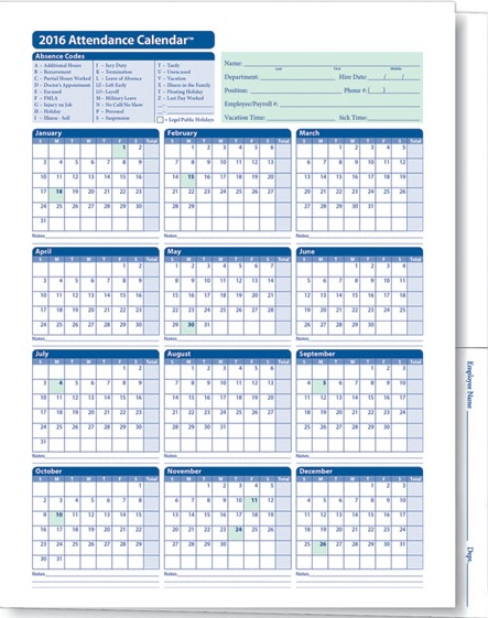 Employee Attendance Planner and Tracker Excel Templates - mandegarinfo