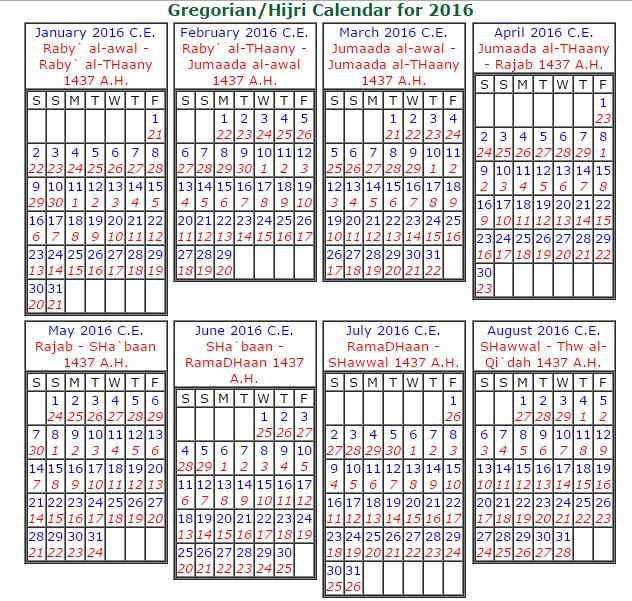 Islamic Hijriwestern Calendar Date Converter Islamic Calendar 1438 Hijri Calendar 1438 Printable