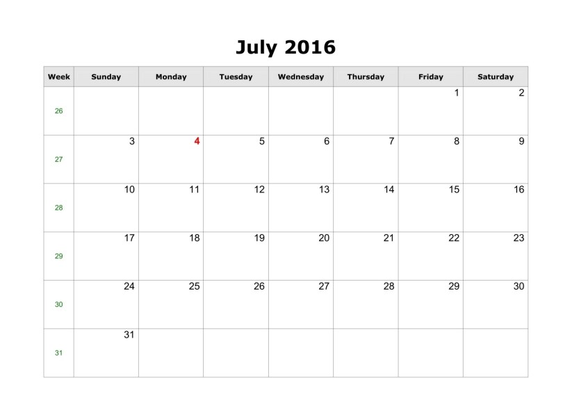 July 2016 Weekly Printable Calendar, July 2016 Blank Weekly Templates, July 2016 Blank Weekly Calendar, July 2016 Weekly Calendar Printable, Weekly July 2016 Calendar Templates, July 2016 Editable Weekly Templates, July 2016 Printable Calendar, July 2016 Calendar landscape, July 2016 Calendar A4 size, July 2016 Printable Calendar Portrait