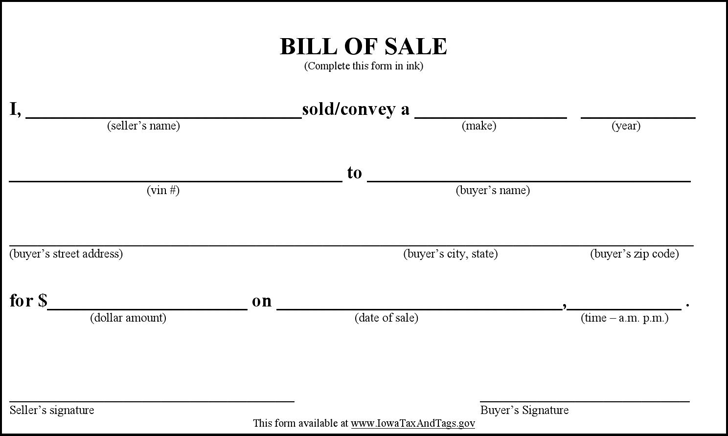 Car Bill Of Sale Private Party Idaho