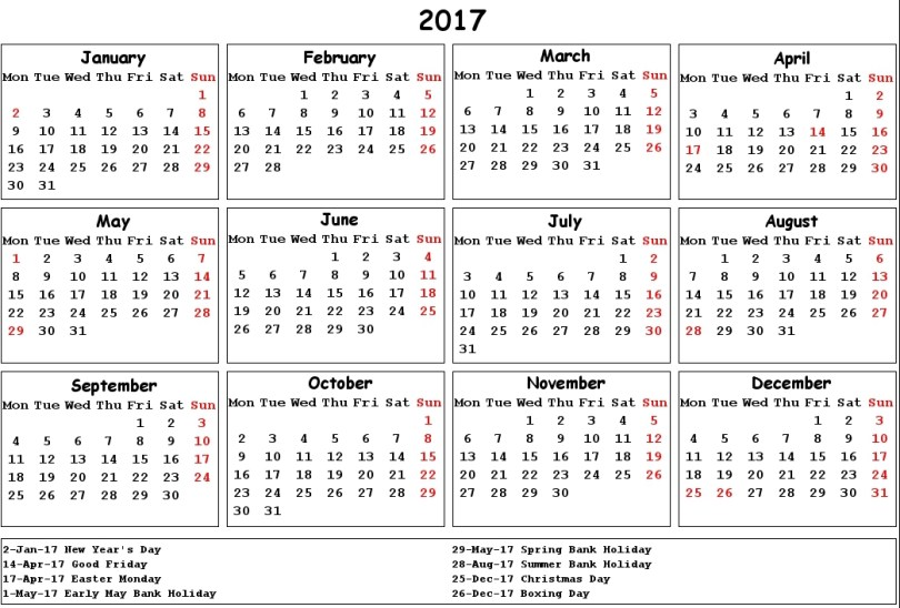 2017 Calendar UK Holidays, UK National Holidays, UK holidays, UK 2017 Calendar with Holidays