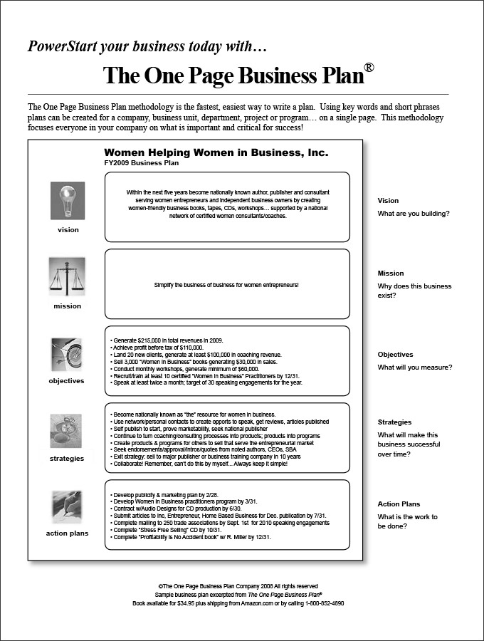 Sample Business Action Plan Template Business Plan Template - plan of action format