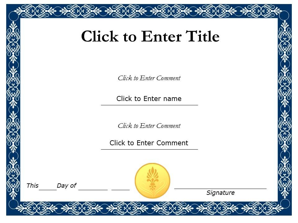 Recognition Certificate Templates Free Printable