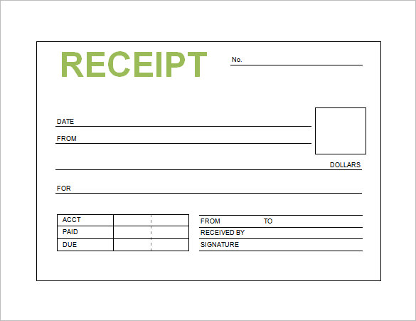 Book-Receipt-Template