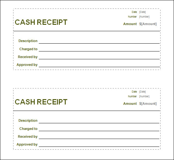 Free Receipt Printable Template for Excel, PDF Formats , Word - create a receipt in word