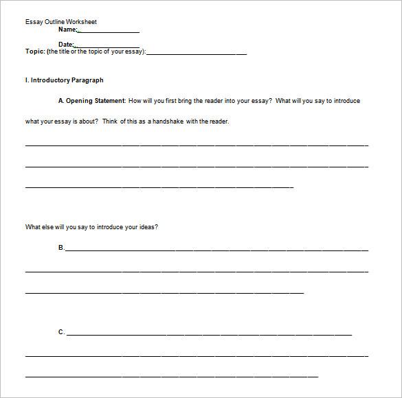 outline format for argumentative essay