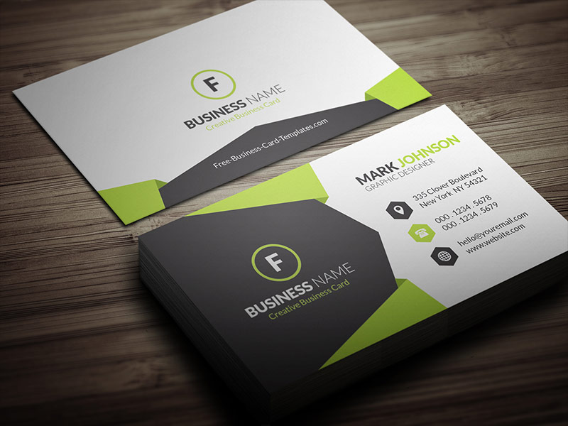 15 best designs of business card templates sample printable geometric style corporate business card template cp00021 flashek Images