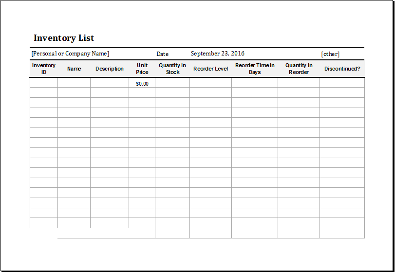 15+ Free Inventory templates & Samples in Excel spreadsheet ...