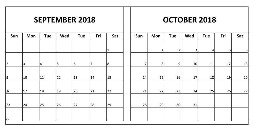 Calendar June To September : September october printable calendar template