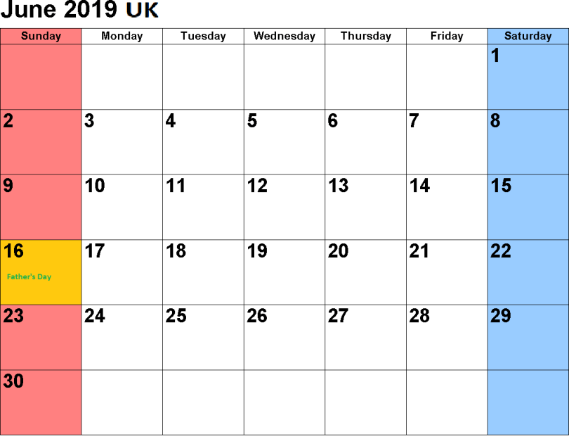 Fathers Day 2019 in UK