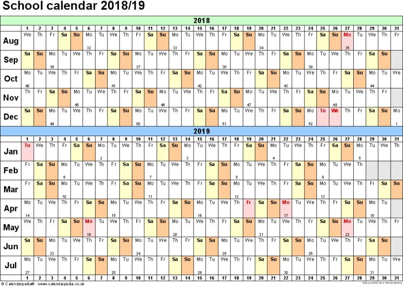 Get Printable Calendar 2019 Tasmanian
