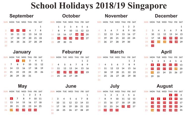 printable calendar 2019 singapore