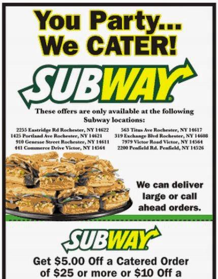 Printable Subway Coupons Printable Coupons Online