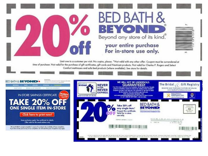 Bed bath and beyond 20 off printable coupon 2018 - Jrr shop coupon code