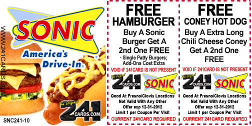 Sonic drive in coupons printable / Print Discount