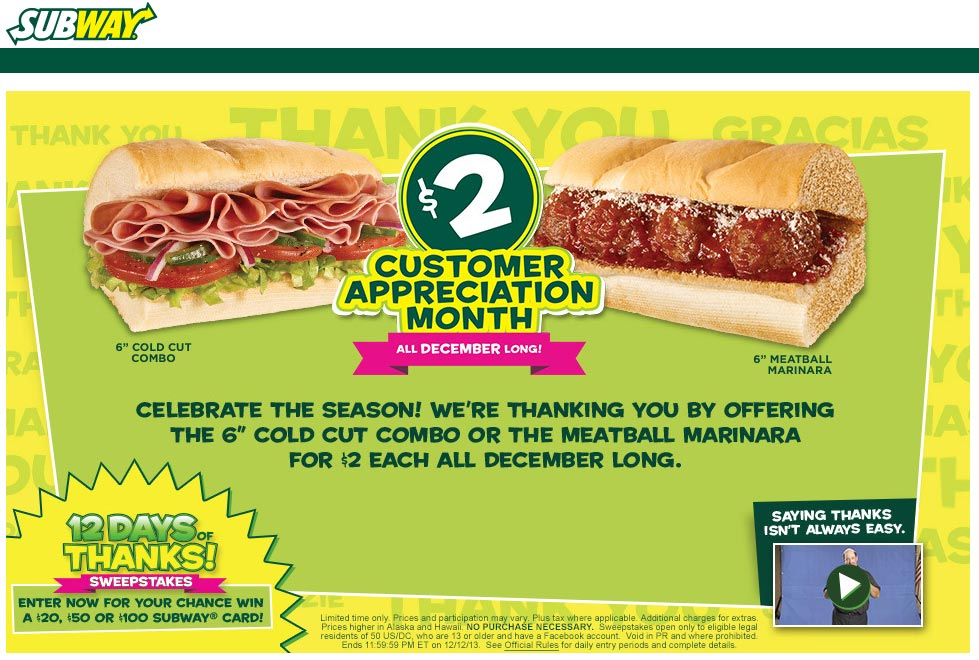 Subway Coupons and Codes Printable Coupons Online