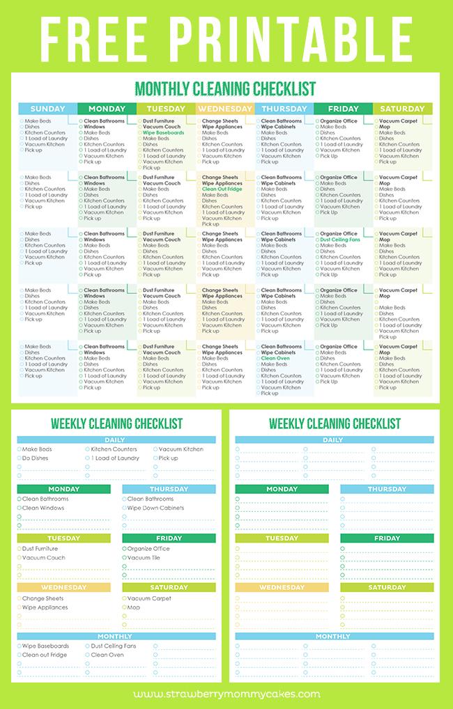 home cleaning schedule - Goalgoodwinmetals - housework schedule