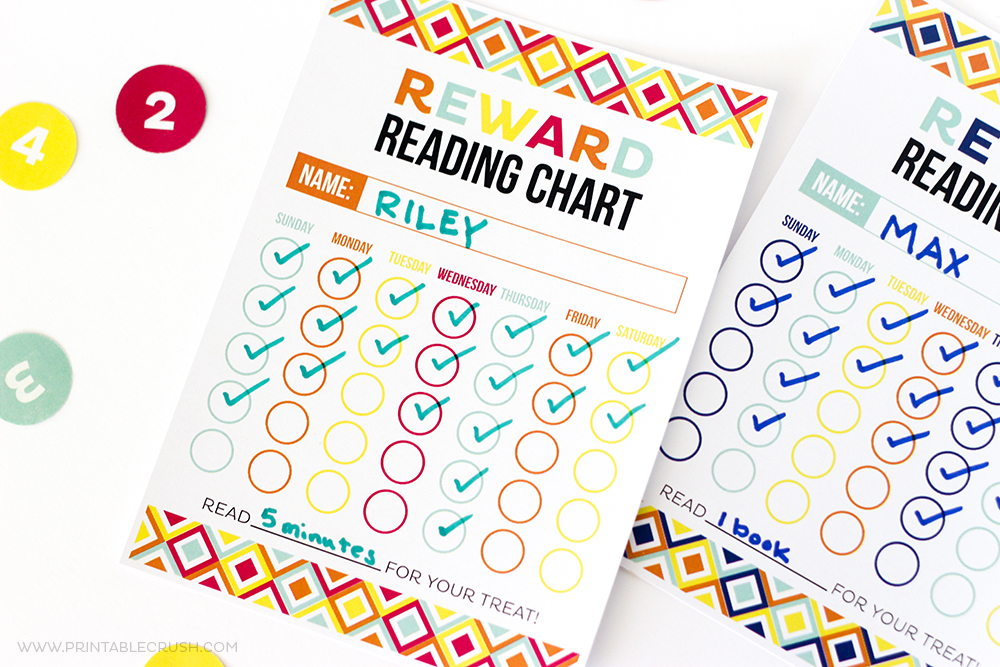 FREE Printable Reward Reading Chart - Printable Crush - Free Chart