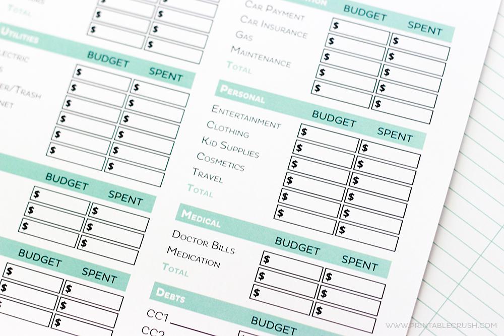 Simple FREE Printable Budget Worksheets - Printable Crush - free printable budget planner