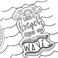 Hand Lettered Summer Coloring Pages Printable Crush. Hand ...