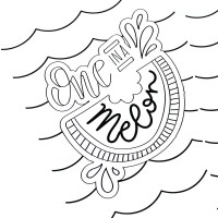 Hand Lettered Summer Coloring Pages - Printable Crush