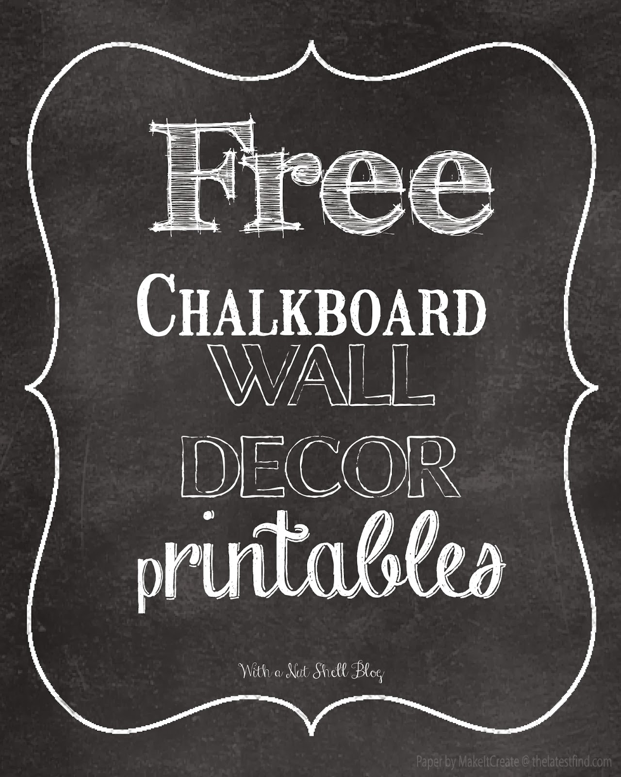 Free Kitchen Design Quotes 8 Best Images Of Chalkboard Art Free Printables Free
