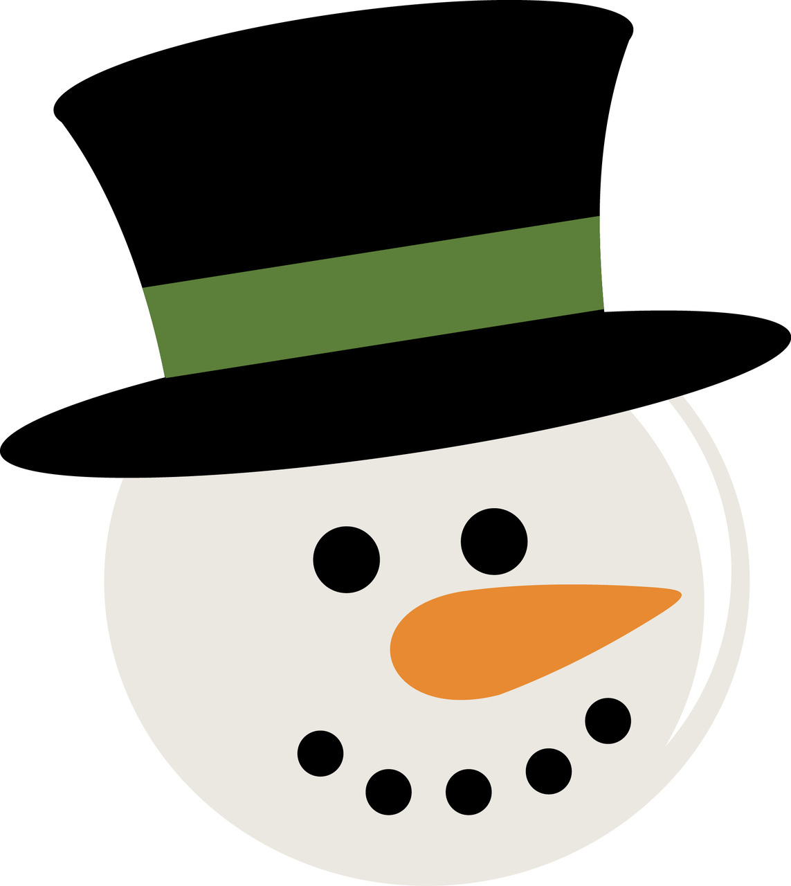 Snowman Face Clipart 5 Best Images Of Snowman Head Printable Free Printable