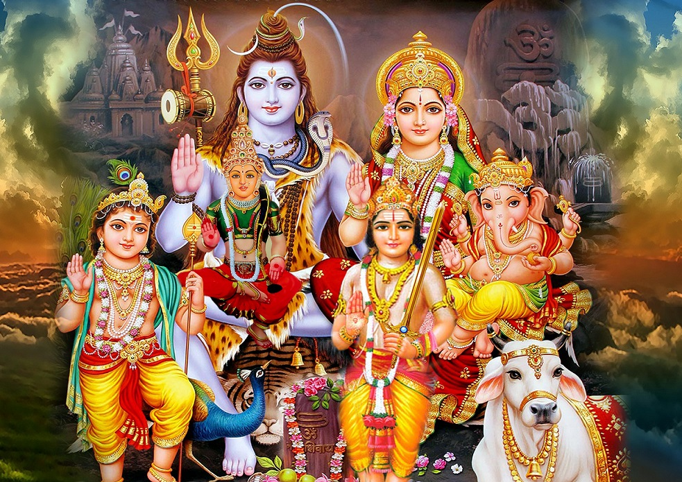 God Ganesh Hd 3d Wallpaper Download Family Photo Of Lord Shiva For Facebook Whatsapp