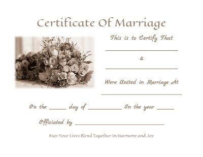 free marriage certificate template - Goalgoodwinmetals