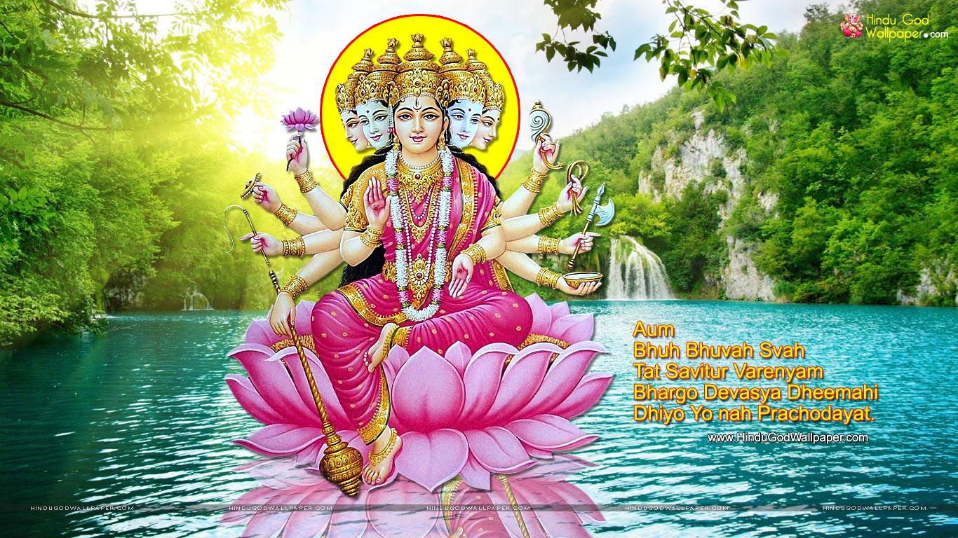 Quotes Wallpaper Free Download Gayatri Mata Image With Shlok Download Free Printable