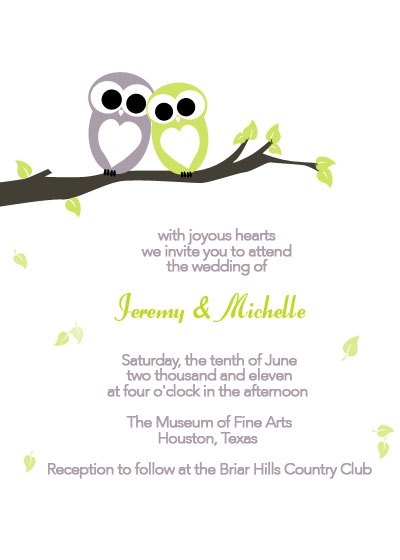 Owls in Love Printable Invitation ← Wedding Invitation Templates - free printable wedding invitation templates for word