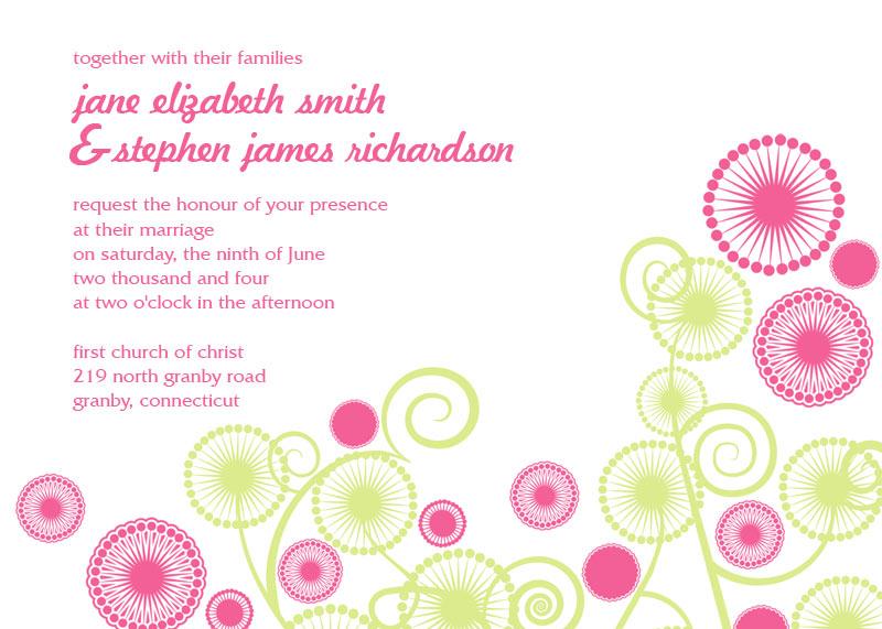 Circles Free Wedding Invitation ← Wedding Invitation Templates