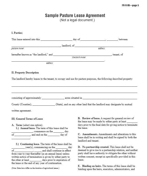 Basic Printable Lease Agreement - printable rental agreement