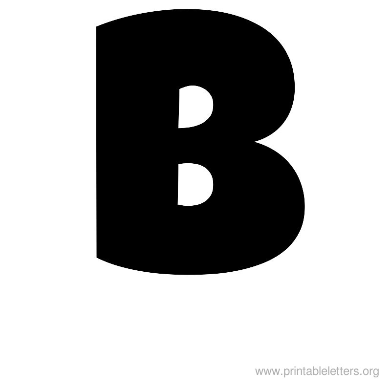 Free Printable Block Letter Stencils Stencil Letters B Templates