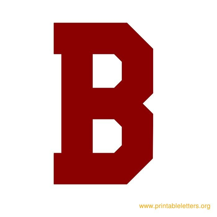 Printable Varsity Letters Printable Alphabet Letters