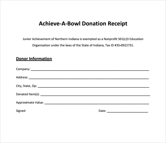 Charitable Donation Receipt Template - FREE DOWNLOAD - Donation Form Templates