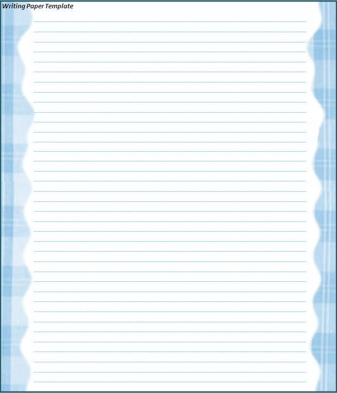 Lined Paper Template Print Paper Templates - lined paper template for word