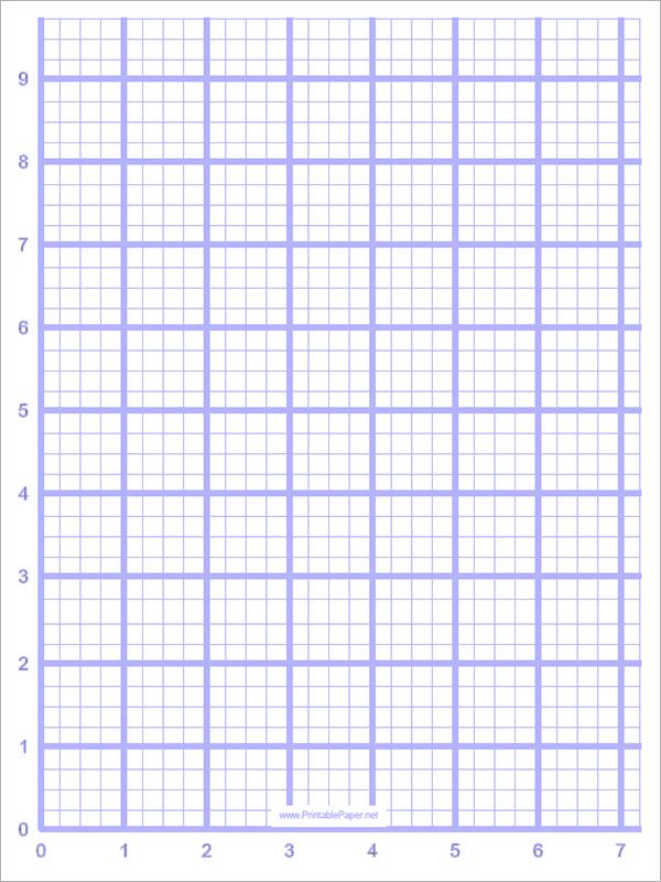 Printable Grid Paper Template Sample Blank Graph Paper Free - Graph Paper Template