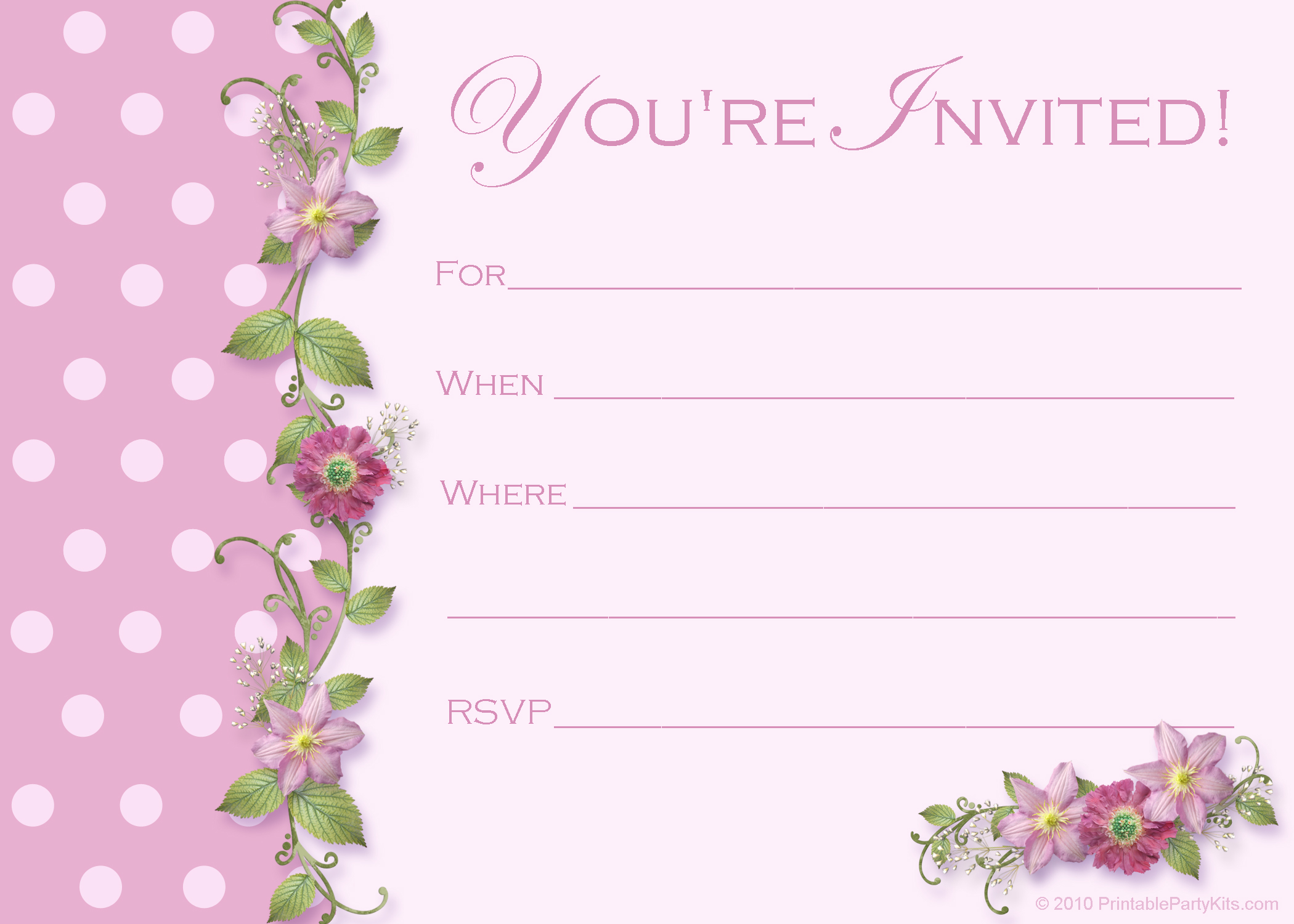 Free Party Invitation Template – Dinner Party Invitation Templates Free