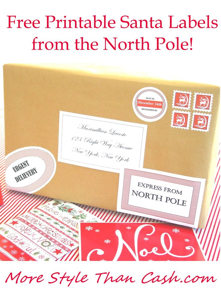 Free Printable Santa Envelopes North Pole - Christmas Printables