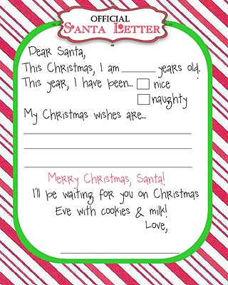 Santa Wish List Template Free Printable - Christmas Printables