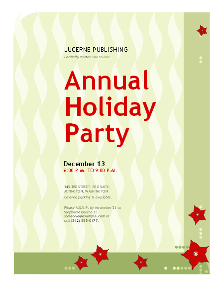Doc15001071 Downloadable Christmas Party Invitations Templates – Office Christmas Party Invitation Template
