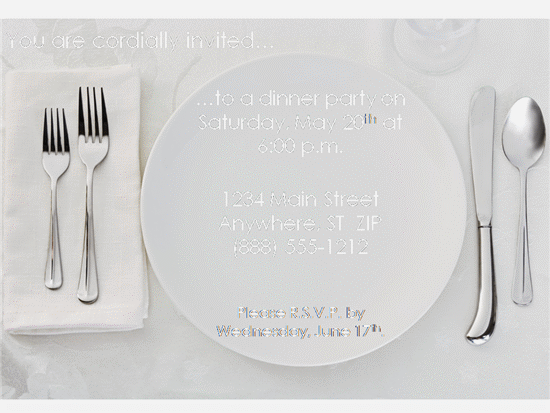 Free Dinner Party Invitation Templates – Free Dinner Invitation Templates Printable