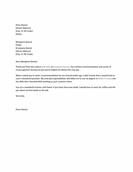 Doc600520 Thank You Letter to Professor Sample Thank You – Thank You Letter to Professor