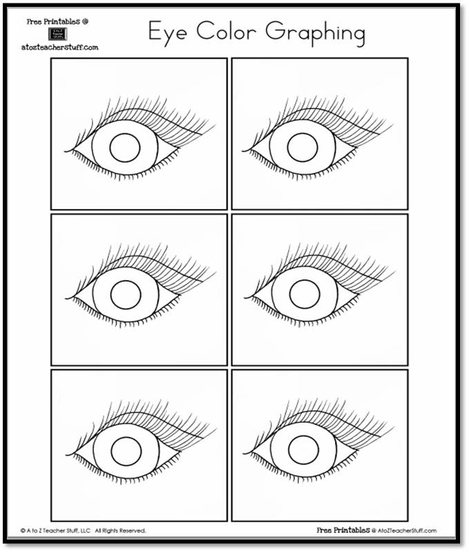 Eye Color Graphing A to Z Teacher Stuff Printable Pages and Worksheets