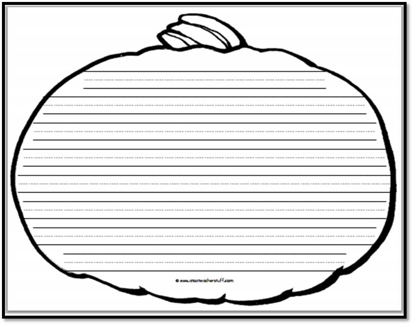 Pumpkin Writing Paper \u2013 8 Handwriting Lines A to Z Teacher Stuff