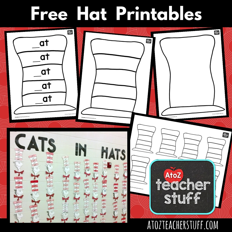 Hat Printables for Dr Seuss, Cat in the Hat, or Just Hats! A to Z