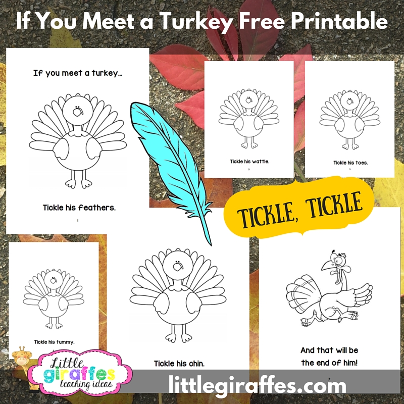 If You Meet a Turkey Printable Book A to Z Teacher Stuff Printable