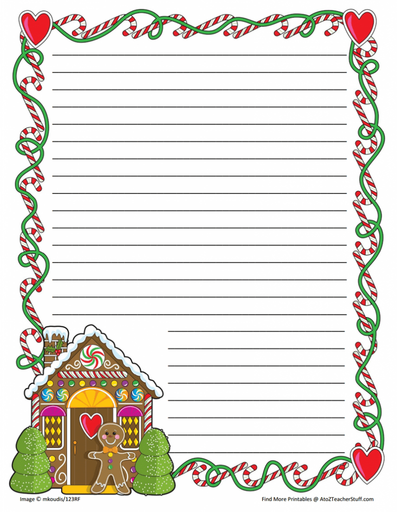 free christmas writing paper