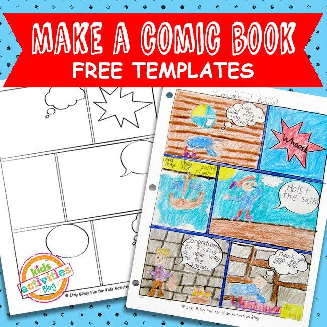 Comic Book Comic Strip Template - The Printables Library - comic strip template